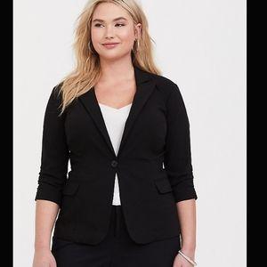 🎀Torrid Ruched Sleeve Button Blazer Jacket